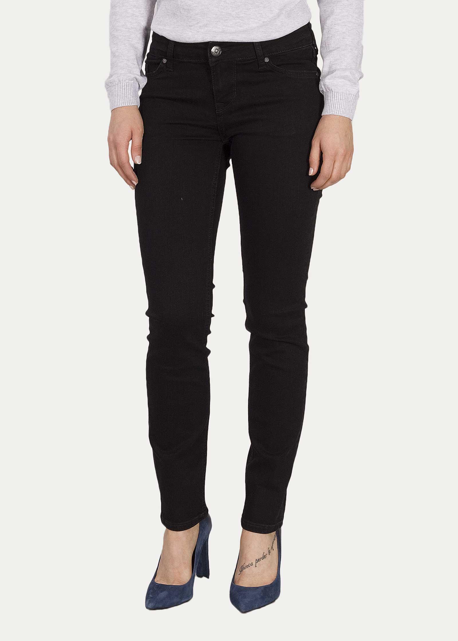Damen Jeans Mustang Jasmin Slim 490 Midnight Black