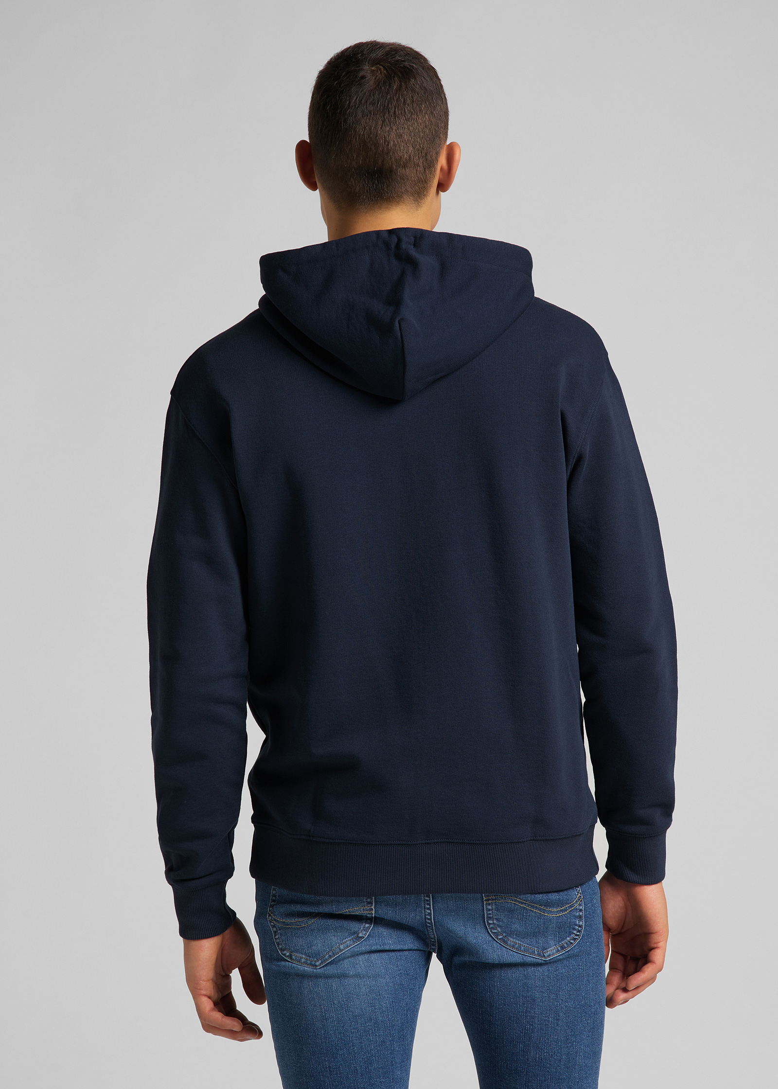 Lee® Basic Zip Throuh Hoody - Navy - elements