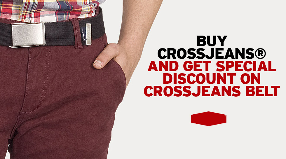 Buy Crossjeans® Chino and get discount on Crossjeans® Belt