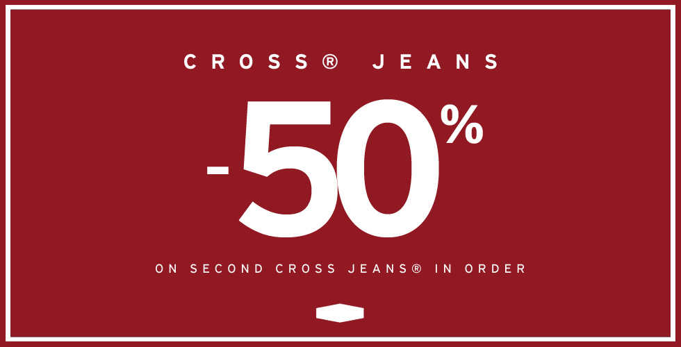 Cross Jeans®  Second product 50% off