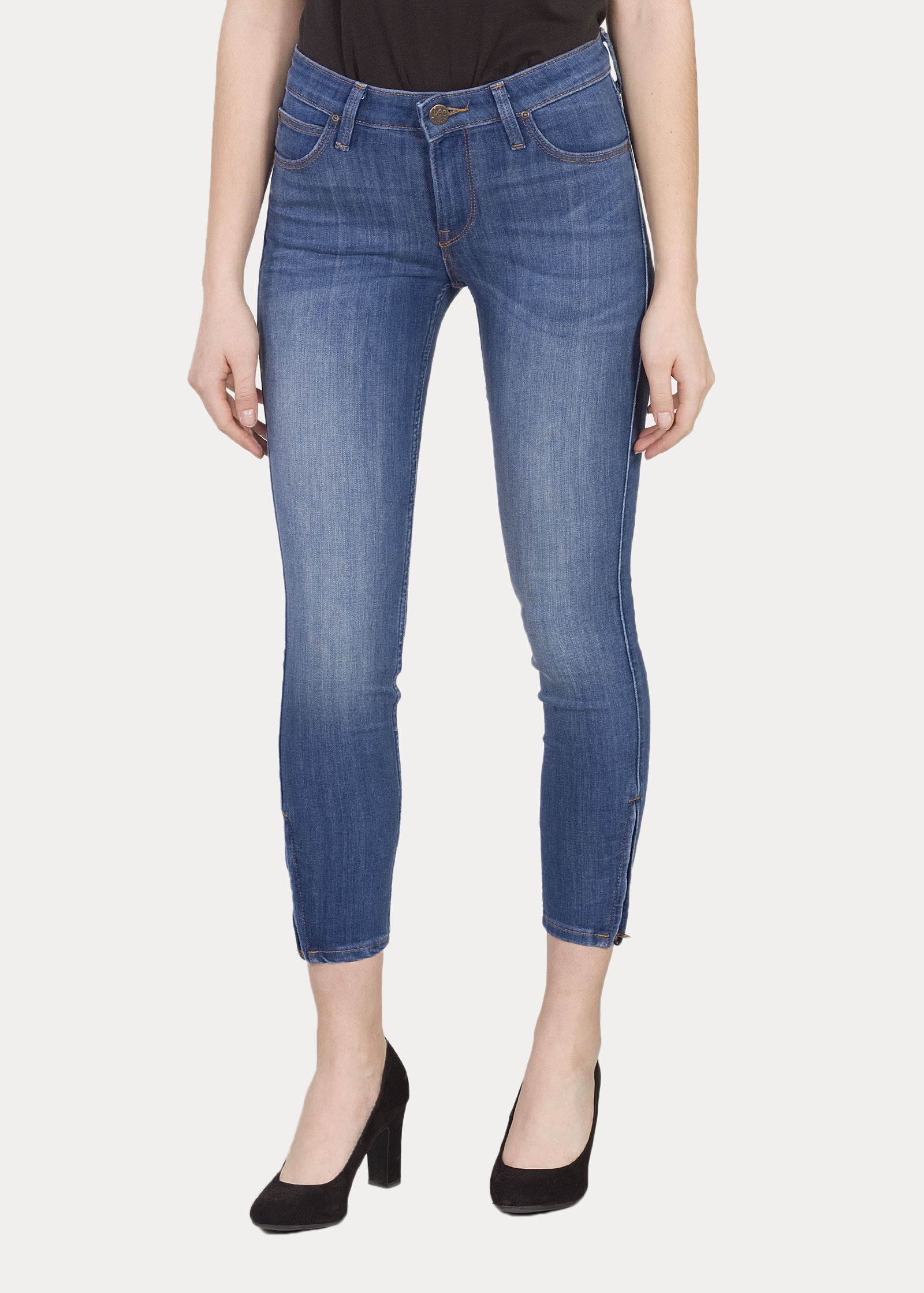 Woman s Jeans Lee® Scarlett Cropped - High Blue (L30CPFYO ... 08c04120394