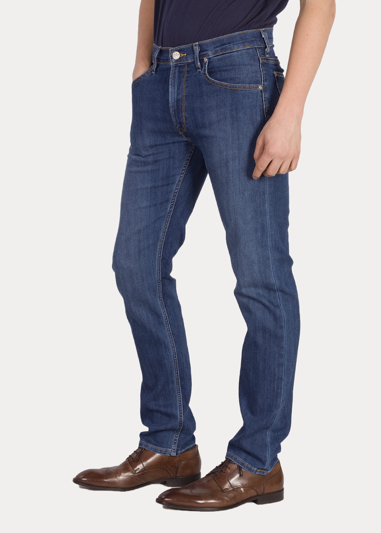 Herren Jeans Lee Daren Zip Fly True Blue