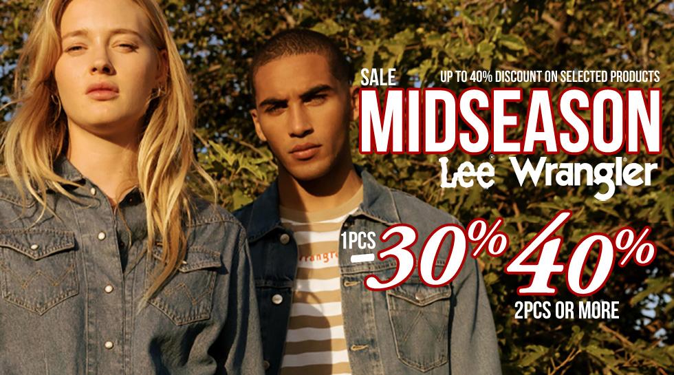 Midseason Wrangler® i Lee® do -40%