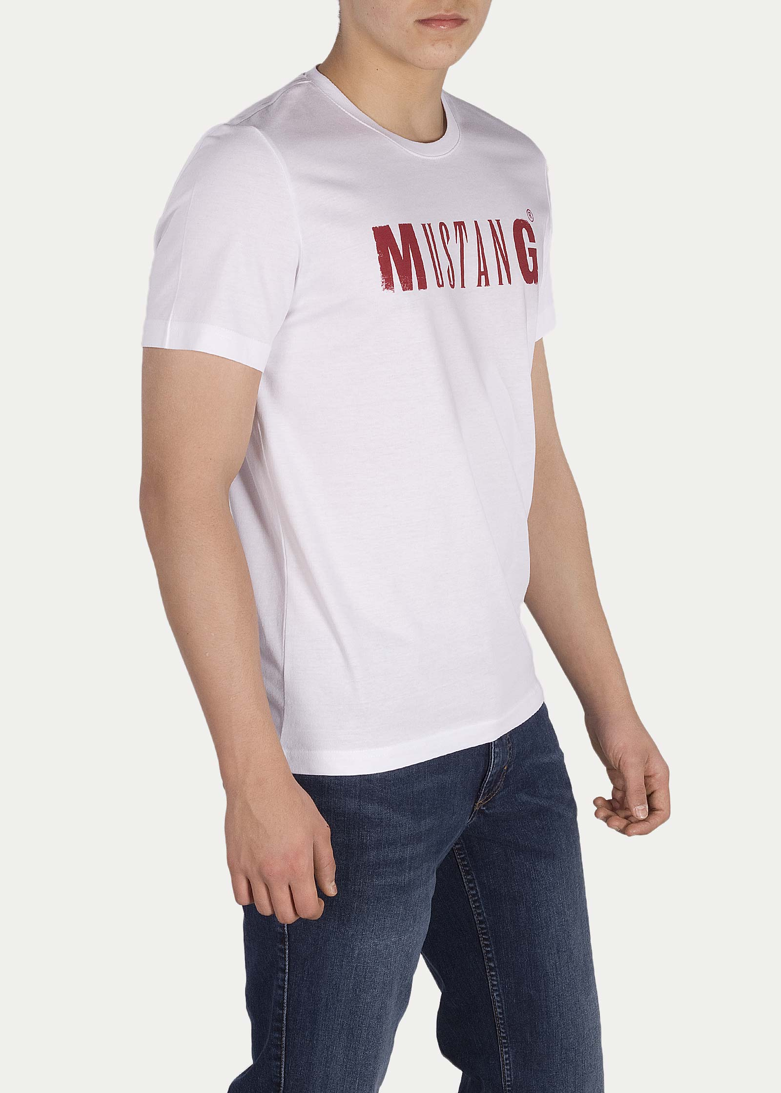 Mustang® Logo Tee - General White - elements