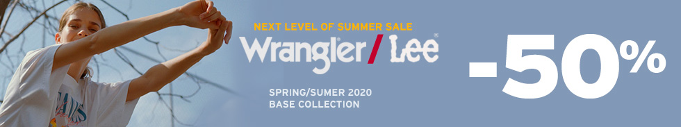 Wrangler/Lee Summer Sale -50%