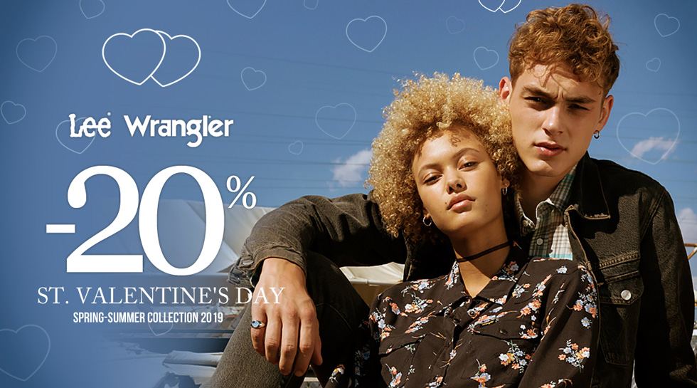 Valentine's Day Promotion - Wrangler® and Lee® -20%