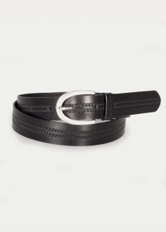 Cross Jeans® Leather Belt - Black (0449K-020)