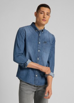Lee® Button Down Shirt - Tide Blue (L880PLQK)