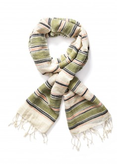 Lee® Multi Stripe Scarf - Army Green (LW3825CA)