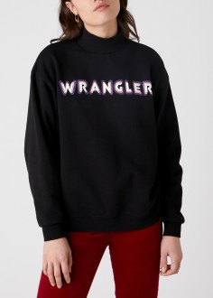 Wrangler® High Neck Logo  - Black (W6P8HY100)