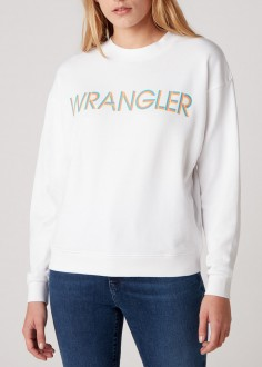 Wrangler® Retro Logo Sweater - White (W6N0HA989)