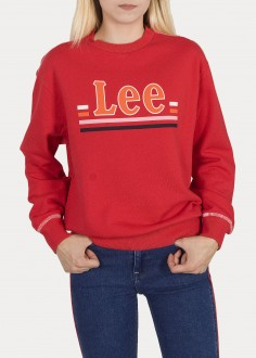 Lee® Logo Sweatshirt - Warp Red (L36GTXKG)