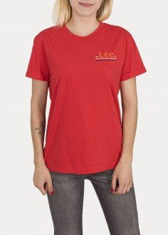 Lee® Chest Logo Tee - Warp Red (L43ZFEKG)