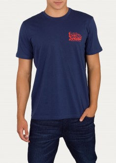 Lee® 70's Logo Tee - Washed Blue (L62NFQLR)