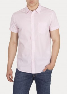 Wrangler® Short Sleeve One Pocket Shirt - Cameo Pink (W58604MY2)