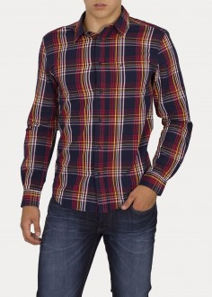 Wrangler® Longsleeve 1 Pocket Shirt - Crimson Red (W5F14MX51)